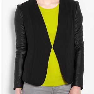 Theory Yasia Blazer with leather sleeves